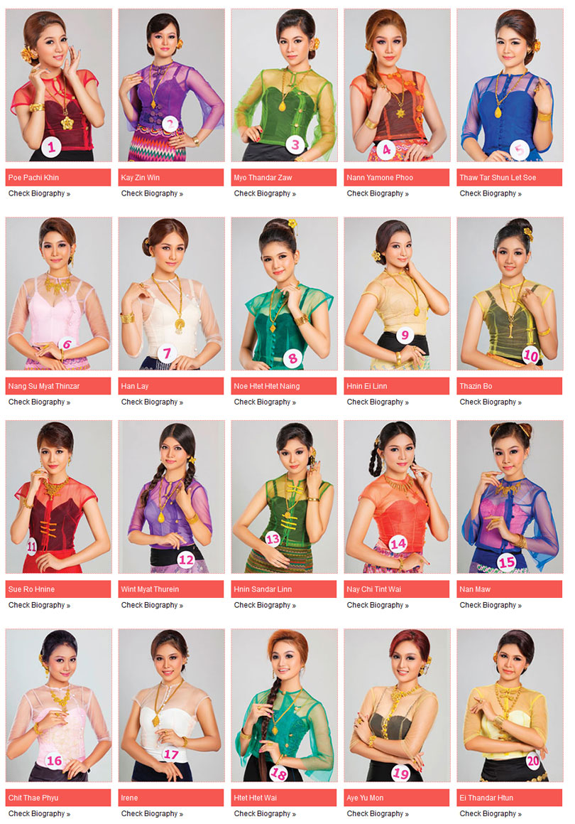 Miss Universe Mandalay 2015 Voting For Title Of Miss Famous Miss